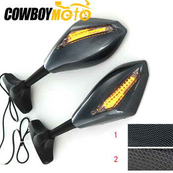 Rear View Mirrors Side Mirror With LED Turn Signals Light FOR Honda CBR600RR 03-10 CBR1000RR 04-07 CBR 600RR 1000RR 600 1000 RR image