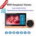 На Продажу Накопительный iHome4 Android IOS APP Управления Беспроводной Wi-Fi Глазок Видеомонитор Просмотра WI-FI Глазок Дверной Звонок Система