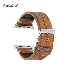 Onthelevel Leather Strap Watch Band For Apple 38mm 42mm Handmade iwatch Series 1 2 3 4  #D