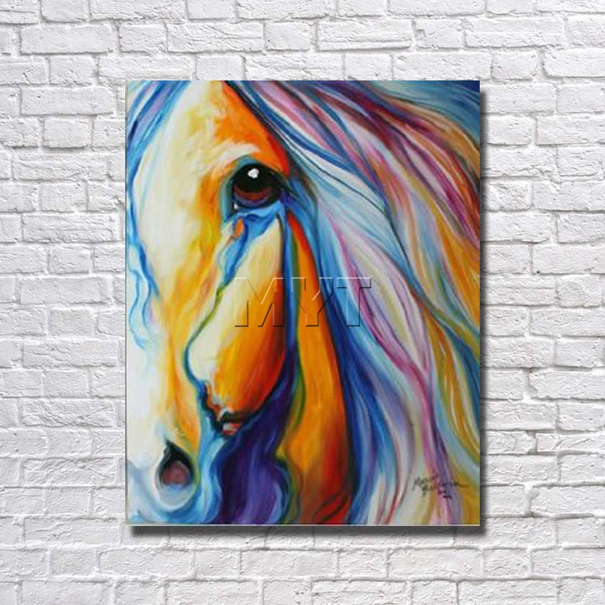 With Framed Half Face Horse Designed Large Horse Paintings Art ...