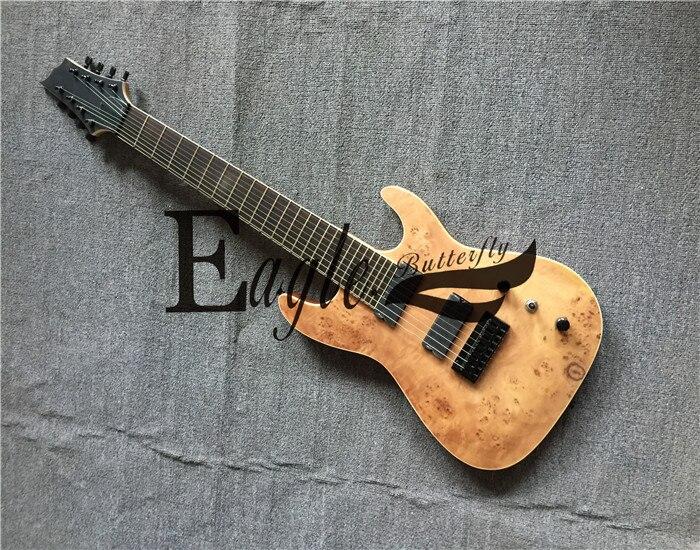 Aigle. Guitare électrique papillon, basse électrique custom shop 8 cordes 24 pintes guitare électrique ébène en stock.