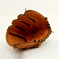 Brown Baseball Glove Softball Left Hand for Adult Man Woman Training Outdoor Team Sports Practice Equipment for Christmas gift