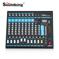 Soundking analógico mixer pro console de mistura áudio efeitos dsp alta qualidade bluetooth usb/cartão sd 48 v phantom power a10/12