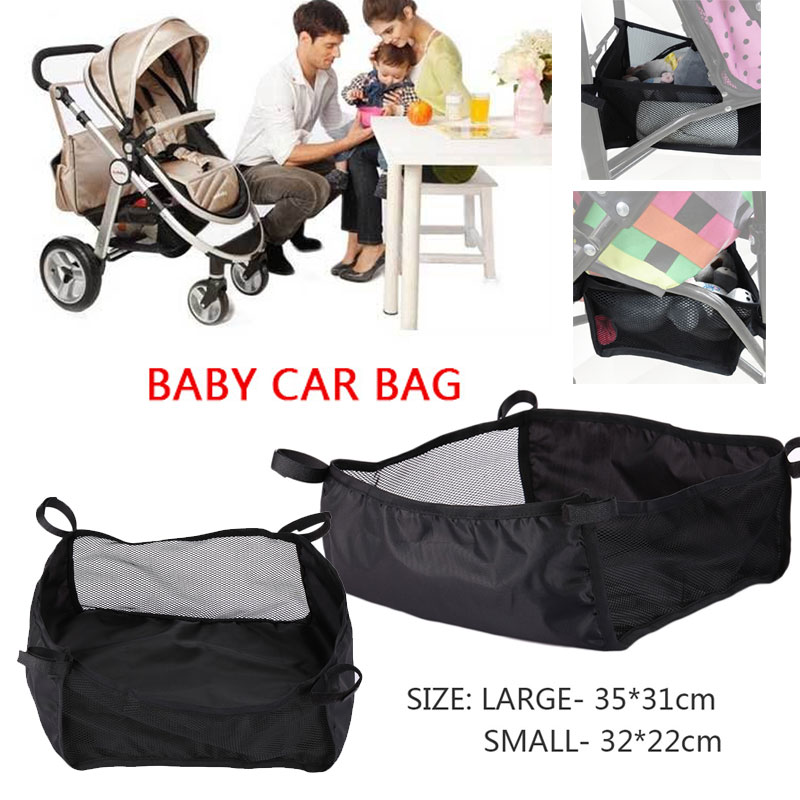 Portable Useful Baby Stroller Basket Storage Bags stroller basket bag storage hanging basket stroller accessories large capacity sucked hanging laundry hamper dirty clothes storage basket