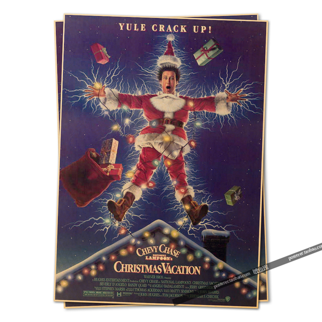 national lampoons christmas vacation movie poster vintage retro adornment poster home decor character classic posters wallsticks