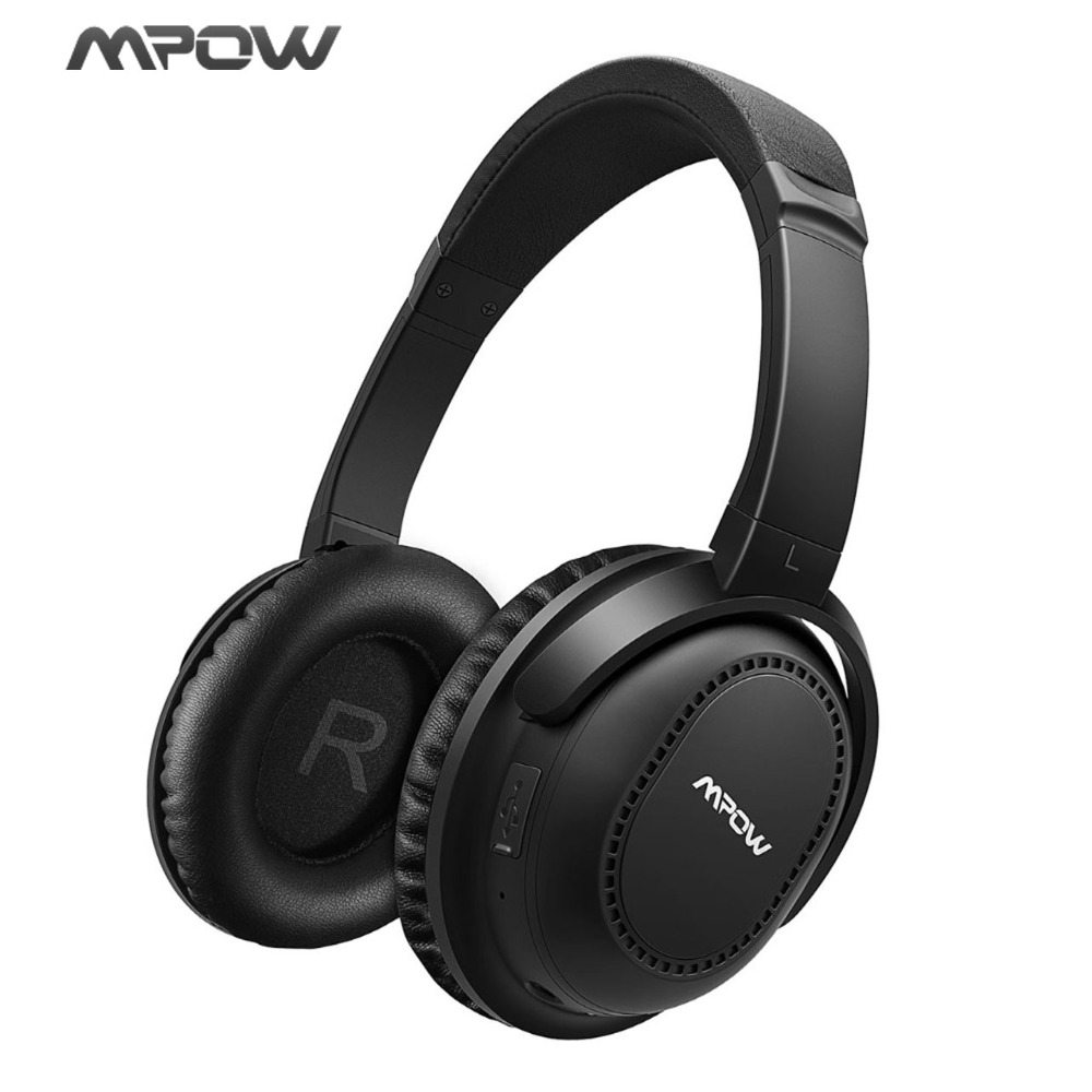 Mpow H8 Over-Ear Headphone Active Noise Cancelling Wireless Bluetooth & 20-25H Play Time Headset For Android/iOS Smartphones/TV