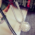 New winter contracted temperament lady hollow out round bead necklace deserve to act the role of jewelry jewelry long