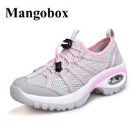 Mangobox Sneakers Shoes Women Height Increase Sport Shoes Woman Pink Grey Barefoot Running Shoes Summer Sneakers