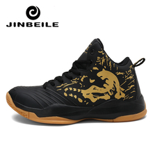 Newest Men Basketball Shoes High Ankle Black Lifestyle Comfortable Cushioning Outdoor Sport Training Basket Sneakers lifestyle basketball shoes for lovers newest 2016 basketball sneakers men and women boots lace up basket homme four season