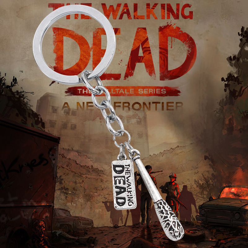 Hot <font><b>Film</b></font> <font><b>The</b></font> Walking Dead Keychain Vintage Steampunk Fighting <font><b>The</b></font> Death <font><b>Fear</b></font> <font><b>The</b></font> Living Pendants Key Chain Ring Holder Chaveiro