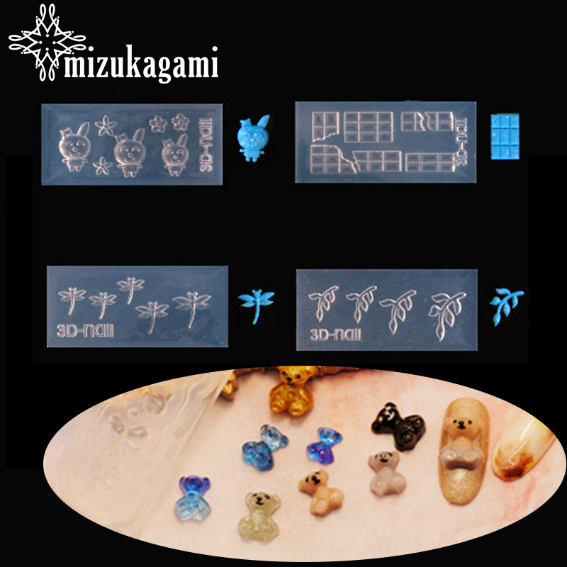 1pcs UV Resin Jewelry Liquid Silicone Mold Animals Rabbit Dragonfly Leaves Resin  Charms Molds For DIY Decorate Making Jewelry