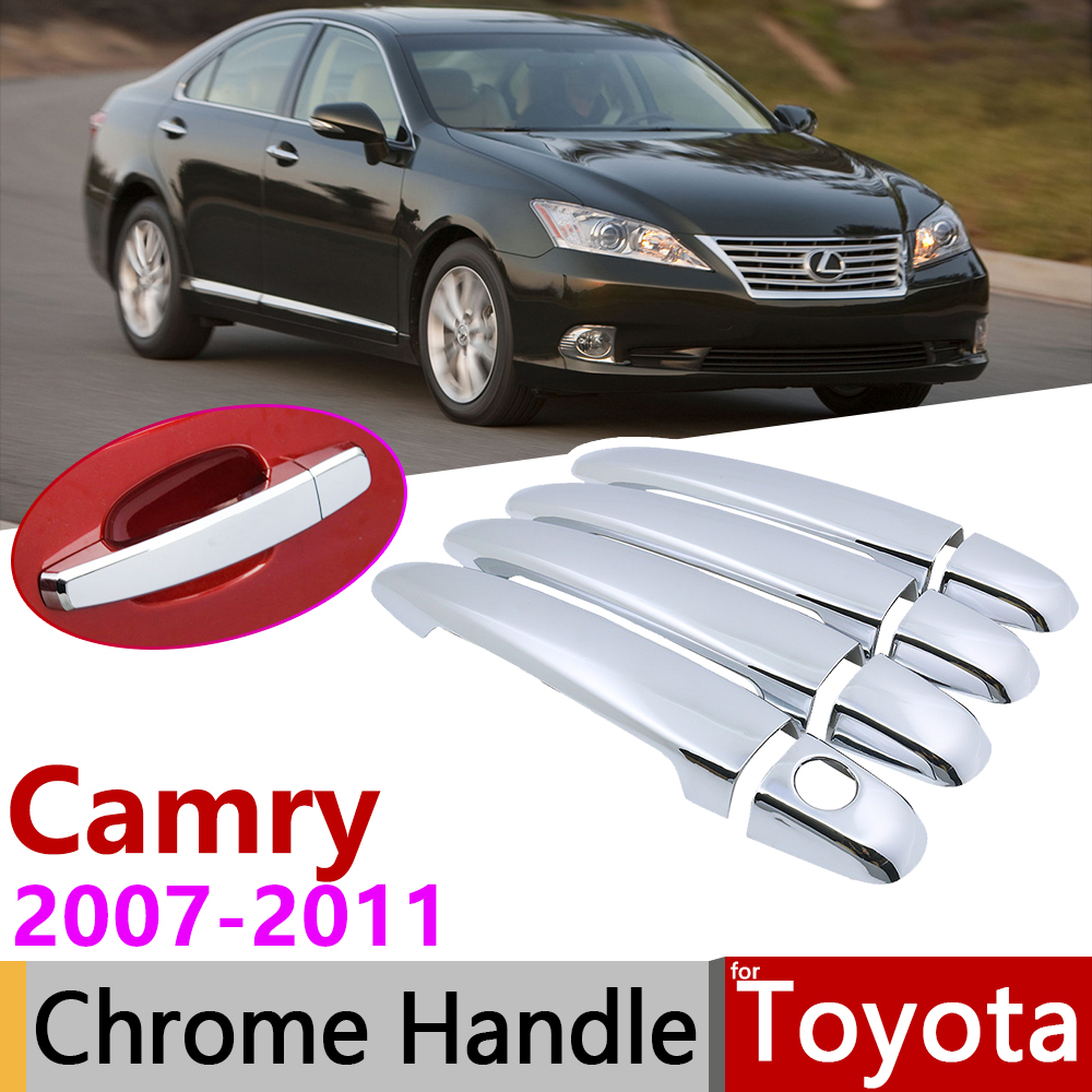 13P Chrome Door Handle Bowl Molding Covers Trims For 2007-2011 Toyota Camry