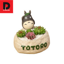 Dehomy 1PCS Totoro Flower Pot Fashion Creative Home Furnishing Ornament Cartoon Fleshy Resin Succulent Plants Fleshy Flowerpot