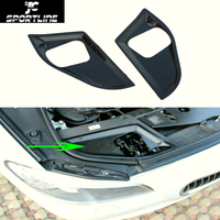 Carbon Fiber Full replacement Engine Hood Lock Cover For BMW 5 Series F10 528i 535i 550i 2011 2013