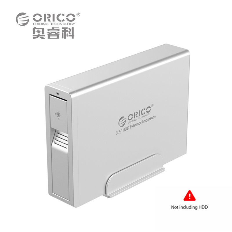 ORICO USB3.0 HDD 3.5 inch SATA External Enclosure hard drive Case Box Aluminum Tool Free Hot-swap 5Gbps 6TB for Windows XP Vista orico 9528u3 2 bay usb3 0 sata hdd hard drive disk enclosure 5gbps superspeed aluminum 3 5 case external box tool free storage