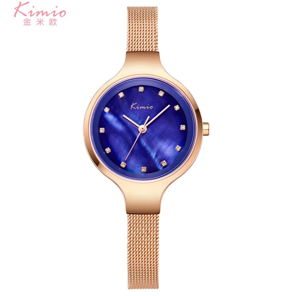 KIMIO Brand Women Watches Pearl Fritillaria Dial Diamond Bracelet Quartz Watch Lady Milanese Steel Dress Clock Relogio Feminino brand kimio reloj mujer fashion women pearl bracelet watches crystal dial quartz watch gold women watches relogio feminino clock