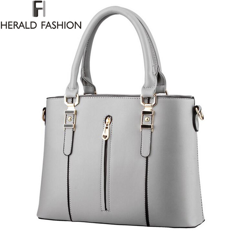 High Quality PU Leather Women Shoulder Bag Zipper Spring And Summer Handbags Cross Body Bags 2016 New Arrivals Herald Fashion 2016 fashion spring and summer crocodile pattern japanned leather patent leather handbag one shoulder cross body bag for women