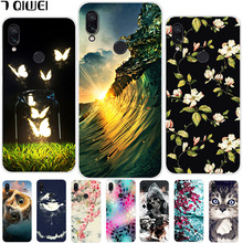 hot deal buy 6.3'' for xiaomi redmi note 7 case redmi note 7 silicone soft tpu case for xiaomi redmi note 7 pro case note7 painting owl capa