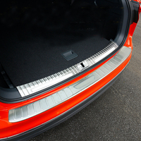 2017 2018 For VW Volkswagen Tiguan Car Styling Rear Boot Inner and Outer Bumper Guard Plate Protector Cover Steel 2pcs