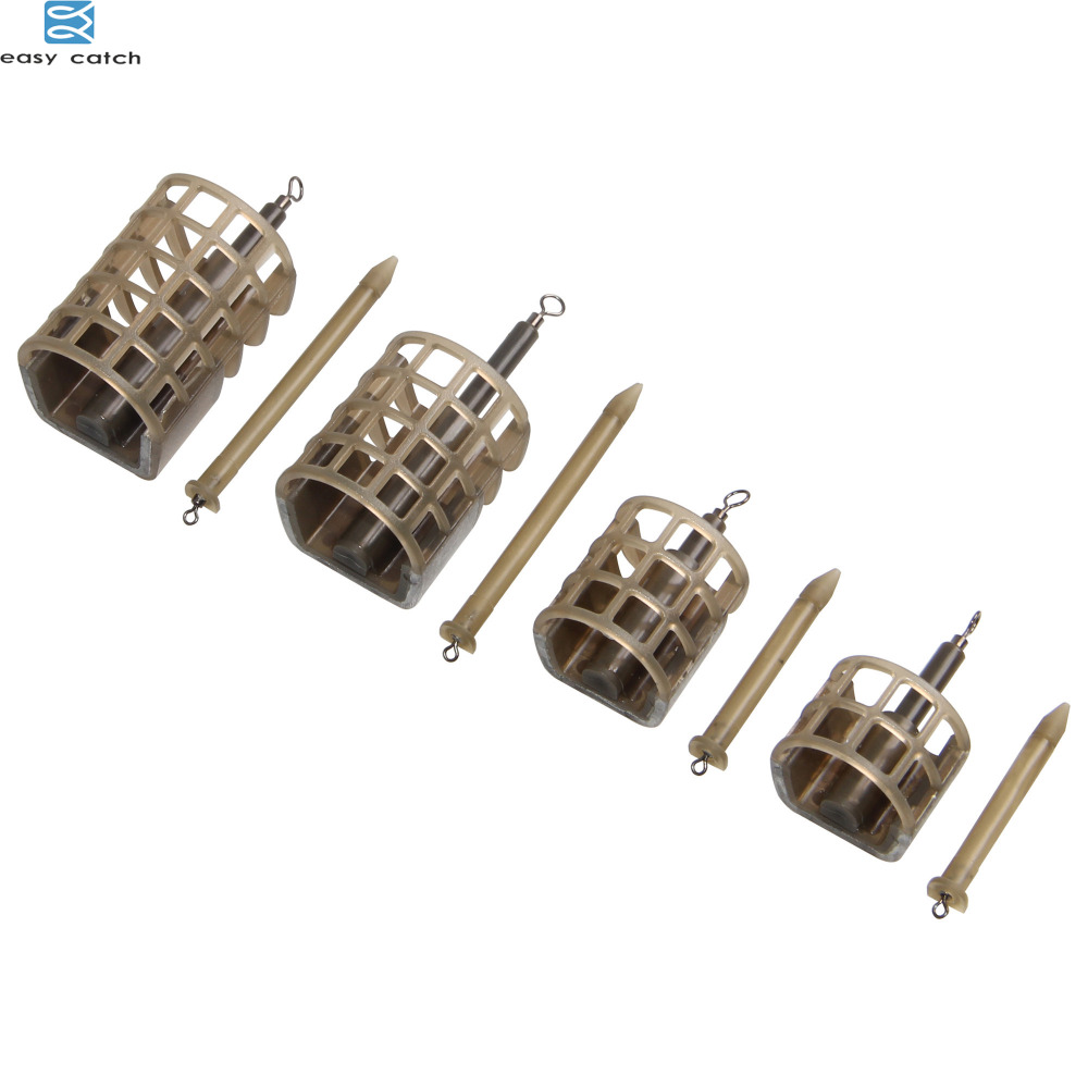 EASY CATCH 5pcs 25g 30g carp Fishing Feeder tackle bait thrower food holder Cage for ice fishing equipment tackle image