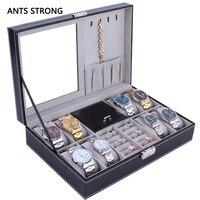 multipurpose jewelry storage box/Lockable 8 bit watch 2 bit jewellery boxes home rganization