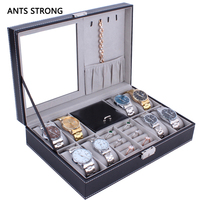 multipurpose jewelry storage box/Lockable 8 bit watch 2 bit jewellery boxes home rganization