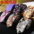 Corbata Corbata Para Los Hombres 2016 Los Diseñadores de la Marca de Moda de Algodón de Impresión Floral de Moda Lazo Para Hombre Corbatas 6 CM Envío Libre