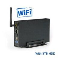 מקרה hdd עם חיצוני 3 TB hdd דיסק קשיח מארז hdd תיבת דיסק קשיח sata 3.5 usb אינץ 3.0 wifi נתב wifi U35WF3TB