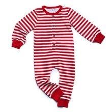 Twin Baby Boy Girl Christmas Stripe Jumpsuit Pajamas