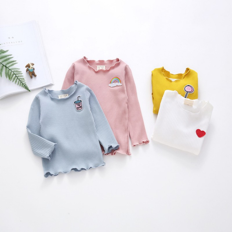 Autumn Winter Baby Girl Thickening T-shirt Clothing Children Long Sleeve T-Shirts Tees Tops Warm For Kids fashion long sleeve o neck t shirt 2017 new arrival men t shirts tops tees men s cotton t shirts 3colors men t shirts m xxl