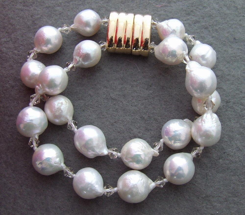 Livraison shippinbg 01482 Perle-Nucléées Perle et Cristal Bracelet