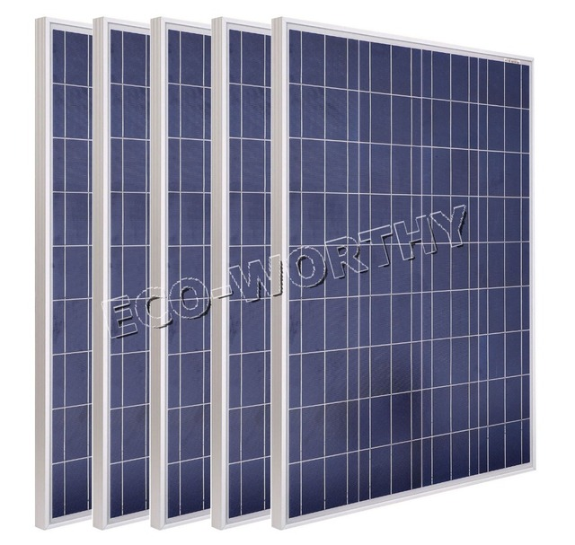 DE Stock 600W COMPLETE KIT: 6*100W WATT PV Poly Solar Cell Panel 12V On Grid Solar System