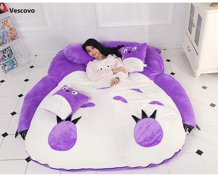 Vescovo Purple Princess Totoro lazy mattress Single cartoon Comfortable mats Lovely creative small bedroom sofa bed chair mattress