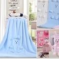 Macia Coral Fleece Envelopes para recém-nascidos Swaddle cobertores do bebê recém-nascido rosa azul branco toalha de banho do bebê cobertor 100 * 80 cm 2015