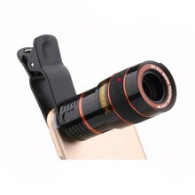 8X Telescope Zoom Mobile Phone Lens For iPhone Samsung Smartphones Universal Cli