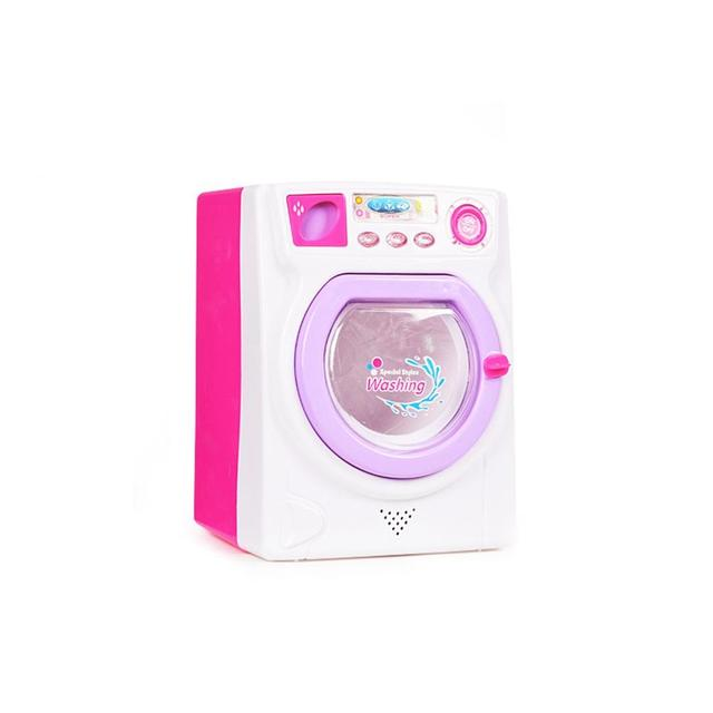 RCtown Children Play House Game Toy Simulation Washing Machine Electric Toy with Light Sound random color zk30 4