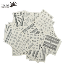 48 Sheets Nail Art Decals Sticker New  Hot Sales Black Lace Women DIY Polish UV Wraps Nail Art Foils Tools TRA577-624