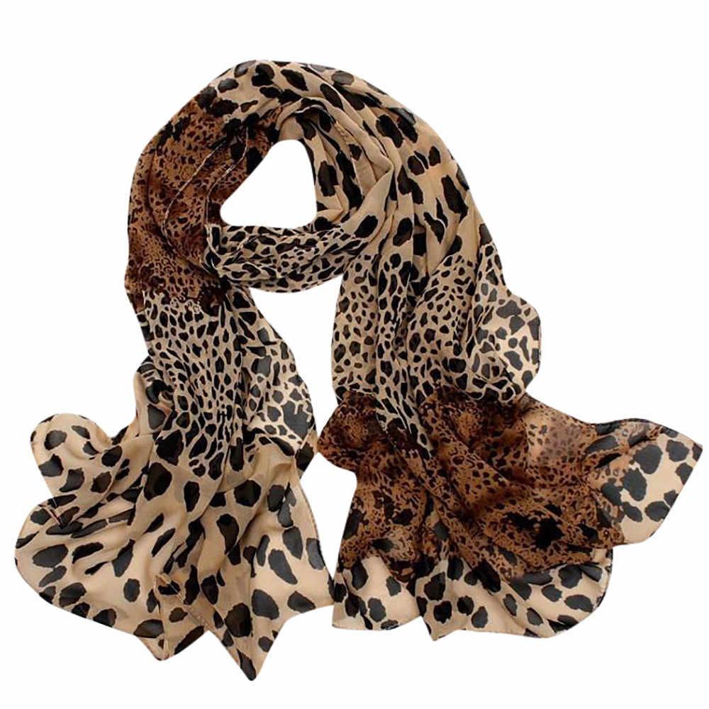 Sexy Luipaard Sjaal Voor Vrouwen Chiffon Hijab Satijn Vierkante Hoofd Halsdoek Zijden Sjaal Haar Tie Band Multipurpose Korte Sjaals Dame