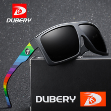 DUBERY Sunglass Men Sunglasses Polarized Women Sun Glasses For Mirror Square Male Brand Designer Oculos D818