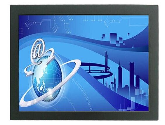 19 '' открытой рамки сенсорный для дюймовым металл настенное крепление мультитач-монитор промышленного 5-wire резистивный сенсорный монитор