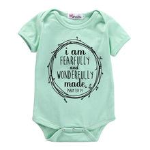2016 New Arrival Newborn Infant Baby Boys Girls Letter Print Blue Bodysuit Letters Jumpsuit Outfits Clothes