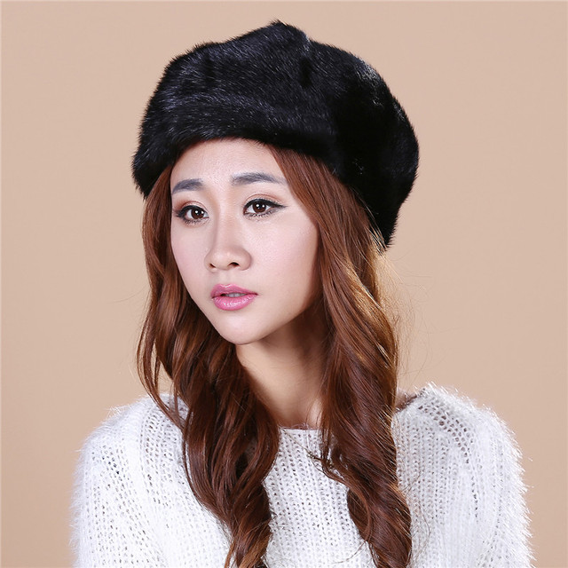 HOT High Quality Lady's the new mink fur mink hat knit cap children winter thickening warm winter hat free shipping/2color.#SD19