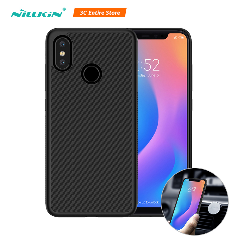 Nillkin Telefon Fall Für Xiao mi mi 8 Fall Synthetische Faser Carbon Kunststoff Zurück Abdeckung Magnetische Ultra Thin Schlank Für xiao mi mi 8 Shell
