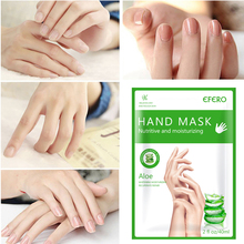 2Pc/1Pair Moisturizing Aloe Hand Mask Hyaluronic Remover Dead Skin Smooth Whitening Anti-Aging Exfoliating Spa Gloves