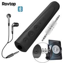Rovtop بلوتوث 4.1 استقبال الصوت 3.5 مللي متر Aux استقبال الصوت محول بلوتوث استقبال MP3 السيارات بلوتوث سيارة عدة