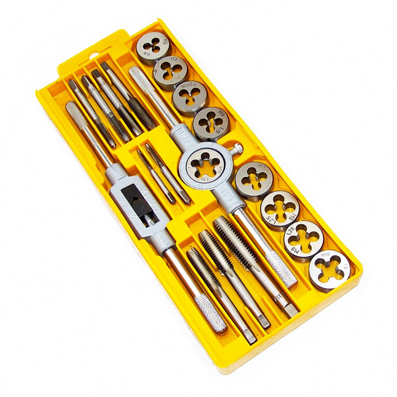 2016 New Hand Tools 20PCS/Set Metric Taps Wire Cutting Die Tapping Set High-carbon Steel Vehicle Maintenance Lathe Accessories