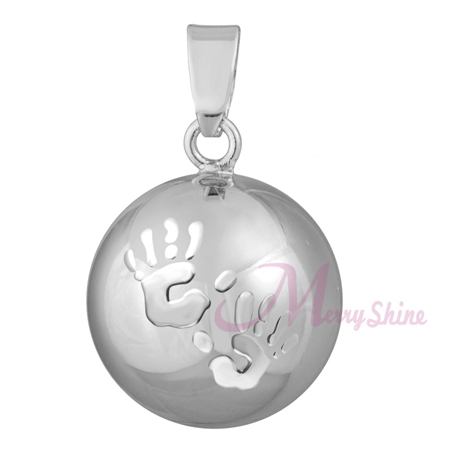 6PCs BABY HANDS Musical Sound Angel Caller Pendant Chime Ball Women font b Pregnant b font
