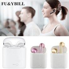 Fu&y Bill New I7 Bluetooth Earphone Twins Bluetooth V4.2 Stereo Headset Earphone for Iphone X/8/7plus/7/6s/6 Plus Galaxy S8Plus