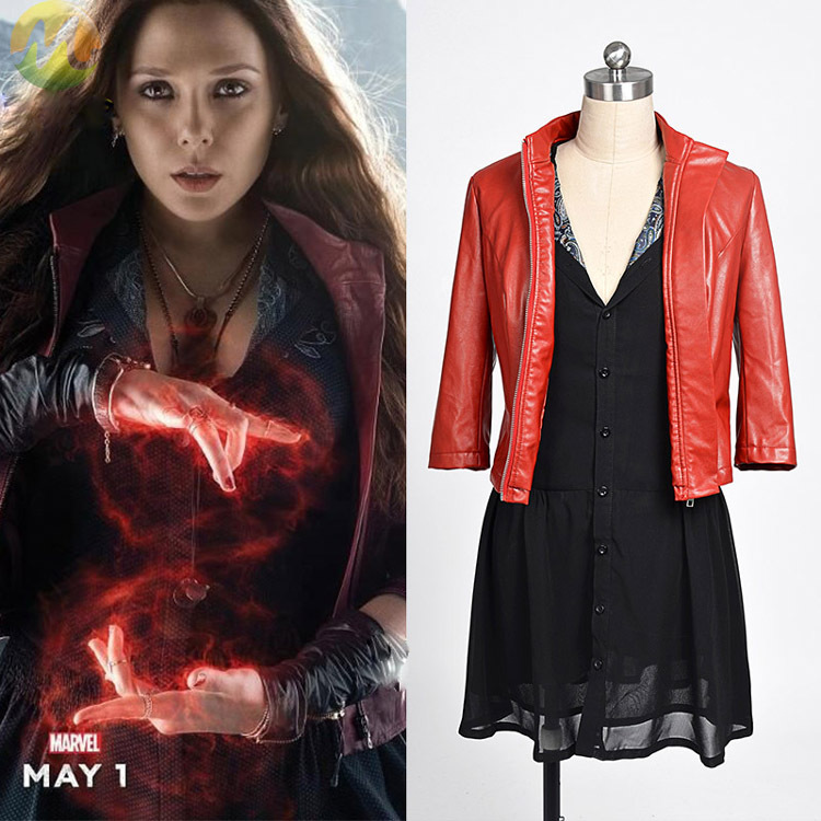 New Avengers: Age of Ultron Wanda Maximoff Scarlet Witch Cosplay Costume for women Hallowmas party Free shipping