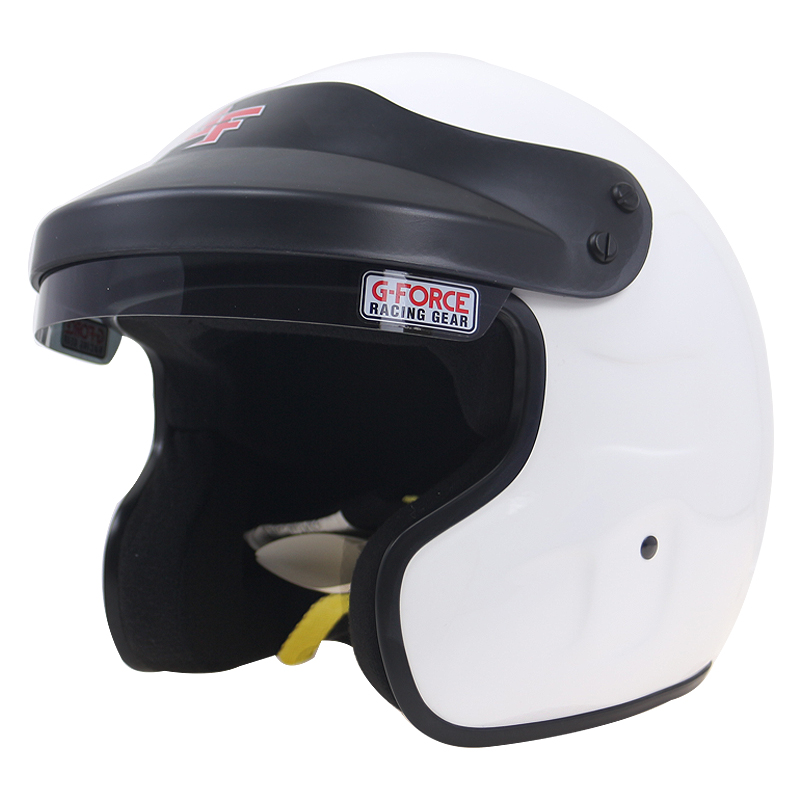 Car Racing gears Open Face helmet White Snell SA-2015 Motorcycle helmet DD ring buckle